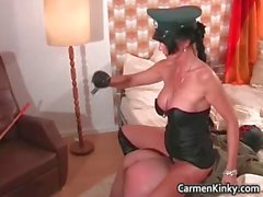Kinky brunette with huge boobies plays part5