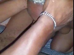 Ebony Freak Sloppily Choking on BBC