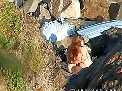 Images de caméras Invisible la plage de du sexe