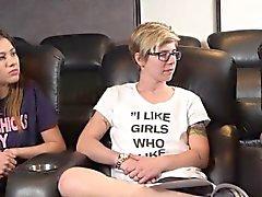 Adolescentes, lésbicas, fazer, saída