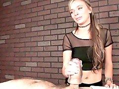 Massage femdom Pristine Edge verwendet Fleshlight