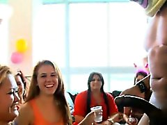 Adorable girls sucking impure dick of strip dancer