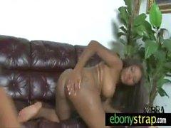 Interracial Teen Lesbians Strapon 25