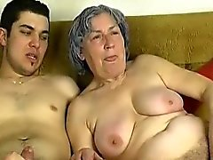 OmaPass Young boy fuck very old granny with her girlfriend