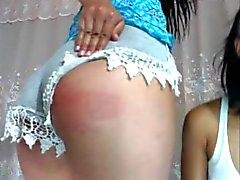 Sexy latina sisters spank eachother NN