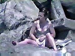 fångats onanerar på stranden