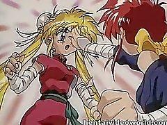 Bra Anime blond erfarenheter först lesbo