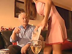 Rich oldman fuck anal young busty Alice