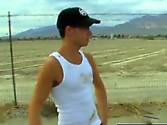 Twink video Camden Christianson is hitchhiking in the desert