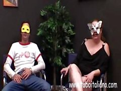 Amateur Italian wive Laura gets drilled wearing masquerade mask
