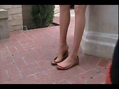 Flats Shoeplay with Pantyhose legs