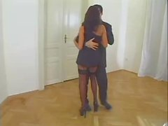 Pantyhose fucking and a footjob