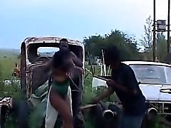 Bdsm HornyAfrican Tenn Abused Hot Threesome