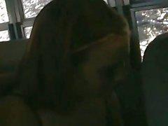 Horny Teen Couple Fucks on the School Bus