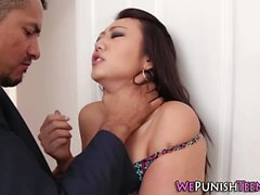 Kinky asian gets facial
