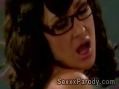 college perv gets lucky with his gorgeous body teacher in XXX parody