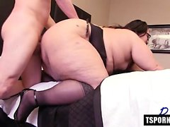 Hot shemale anal with facial