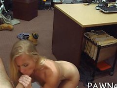 Stunning blonde teen fucked in pawnshop