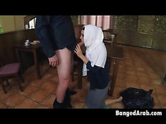 Salty And Sultry Arab Beauty On Dose Knees Sucking Dick