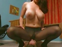 4clips pantyhose and panty facesmothering