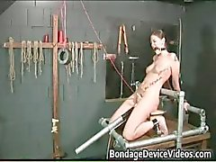 Kinky brunette slut is bound and spanked part6