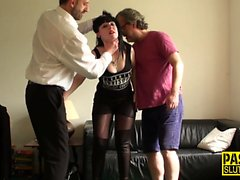 Real pounded submissive