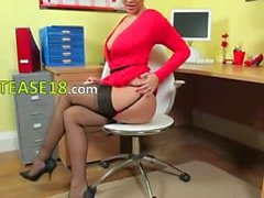 Incredibly lovely secretary only teasing