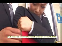 Mihiro unschuldige Chinesen Mädchen bekommt eine U-Bahn verdammt