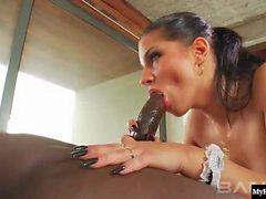 Angel Rivas plays a horny French Maid in