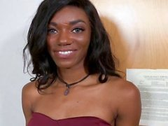TeenyBlack - Cute Black Teen Tries porno