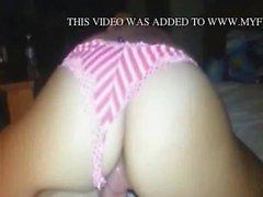 Nailing gf in her red bikini