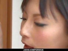 Karkean anaali seksikumppanissa brunette Rikan Sonohara