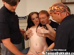 Young mom Dixie squirts back at Dirty D and the Bukkake crew