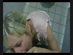 Young German Slut Fucked in Public toilets!