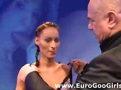 Group sex and facial for German bukkake slut