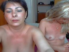 two mature women show and play p1