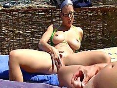 public masturbation and blowjob