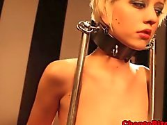 Lezdom bdsm slut gets rough treatment