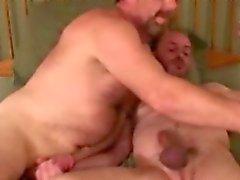 Hairy redneck dude has deep throat