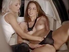 Extreme group bang in limo