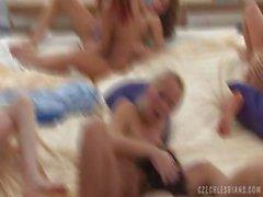 Czech lesbians orgy