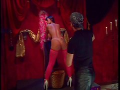 Stripper with giant tits gets spanked and whipped