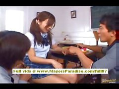 Miyu Hoshino asian schoolgirl enjoys getting pussy fingered
