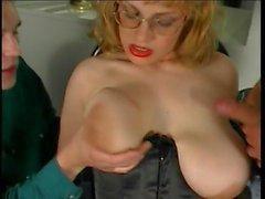 Big Floppy Hangers Mommy Lactating Anal Glasses Stockings