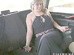 Huge tits blonde bombshell creampied on bonnet