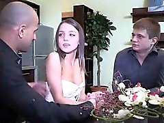 Penniless lover lets flirty buddy to fuck his ex-girlfriend