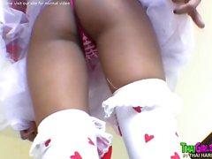 Cute Thai girl loves white cock