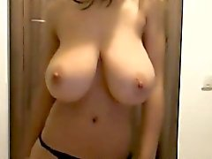 Hot Babe with Huge Natural 36DD Juggs