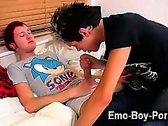 Hardcore gay Lucky emo stud Josh Dixon has a xxx session in