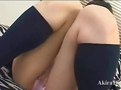 Student from chinese touching her clit